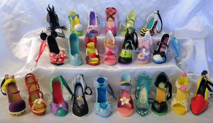 Disney Diva Runway Collection Shoe Ornaments | Jessica ...
