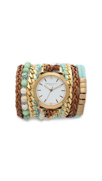 Sara Designs Часы-браслет в технике макраме