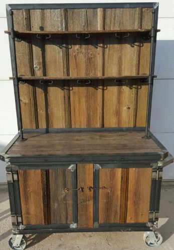 handmade collection genuine antique barn wood wine hutch iron trim uv sealed by on etsy