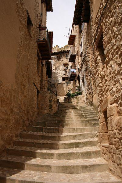 Valderrobres declarado Monumento artistico y monumento nacional en 1931. Teruel  Spain
