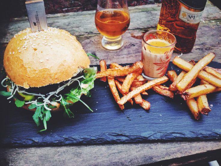 Celebrate Burns Night and make this juicy haggis burger