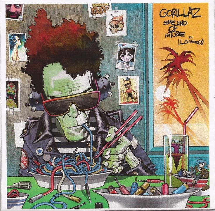 Lou Reed by Jamie Hewlett, co-creator of Gorillaz.