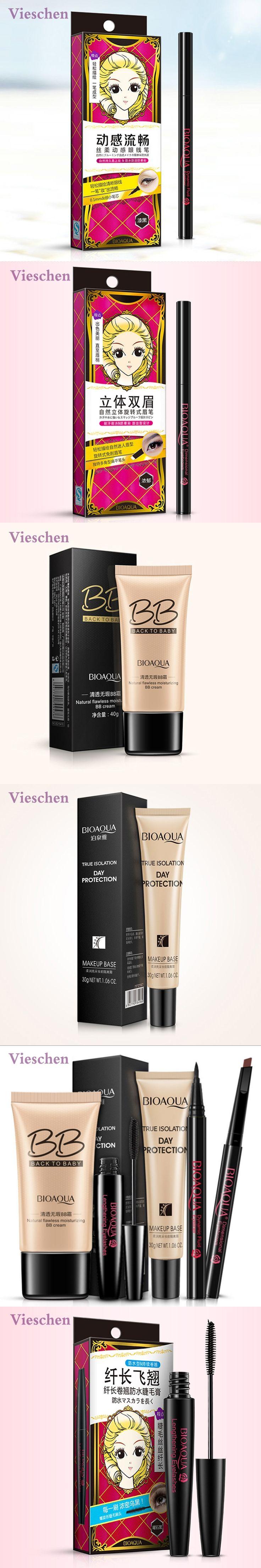 Vieschen 5 in 1 Makeup Set Make Up BB cream Mascara Makeup Base Eyebrow Pencil Eyeliner for Beginners