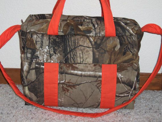 Real Tree Camo Diaper Bag w/change pad and matching by emijane, $56.99