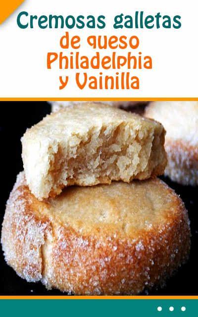 Cremosas #galletas de #queso #Philadelphia y #Vainilla