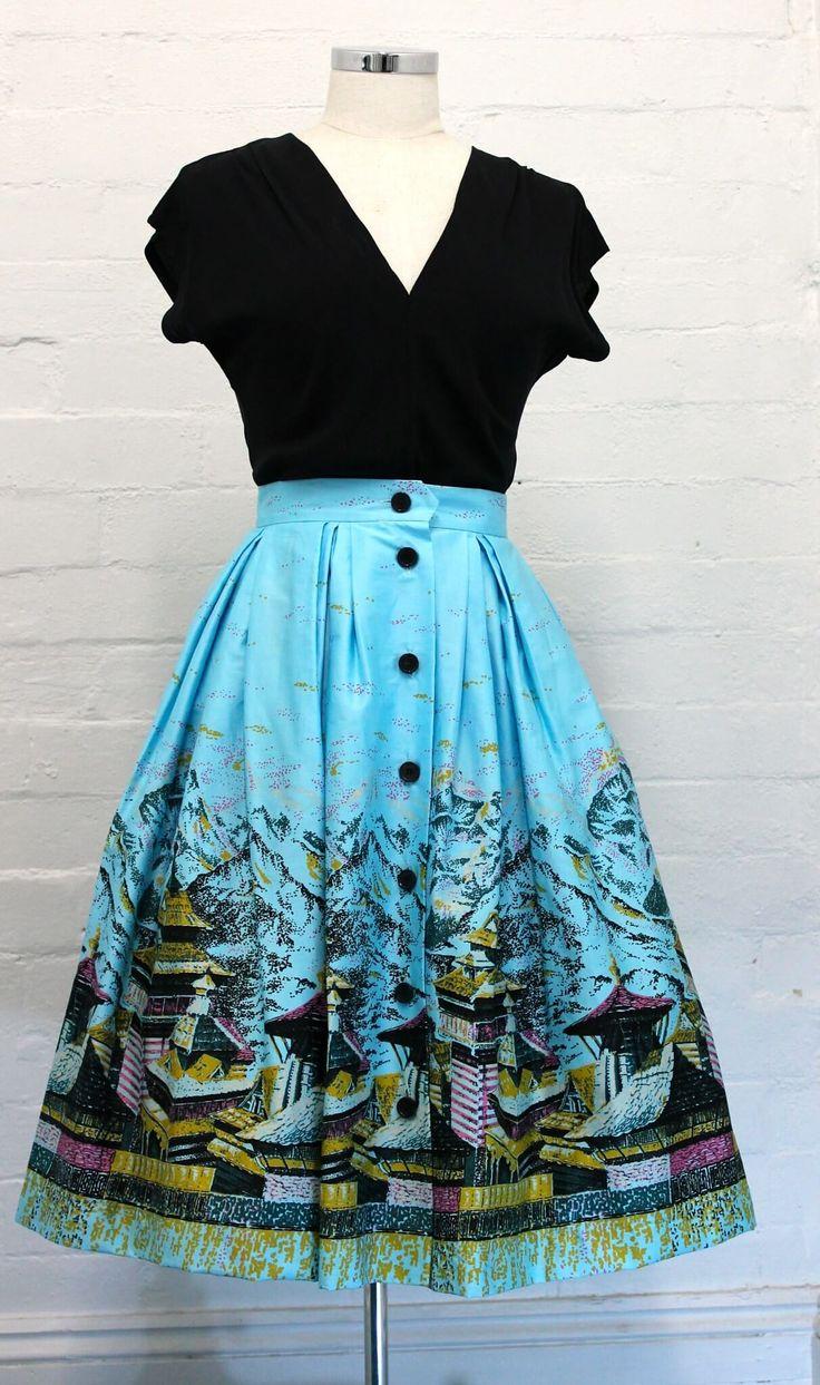 Bonnie Skirt Oriental from Retrospec'd. Vintage balloon skirt.