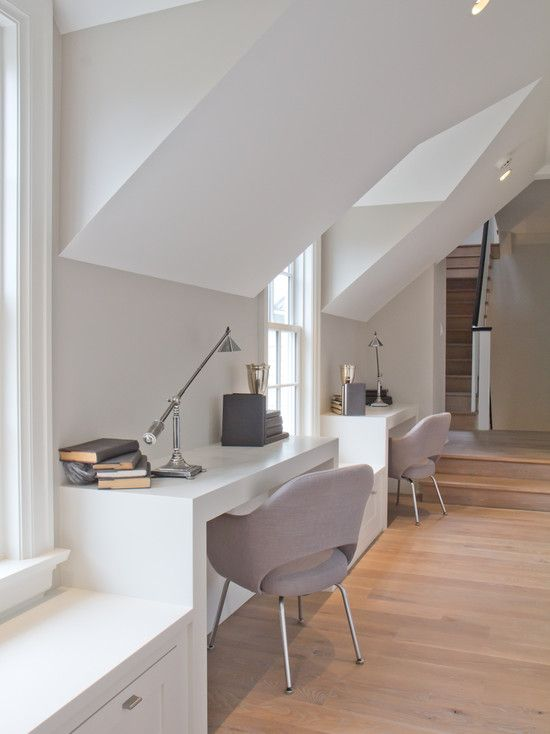 Vicente Burin Architects: Stunning attic loft space design with vaulted ceiling, for an incredible home office ...
