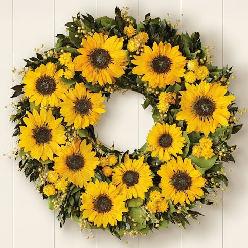Sunflower Wreath#Repin By:Pinterest++ for iPad#