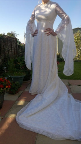 1970's wedding dress. Very different and sweet!
