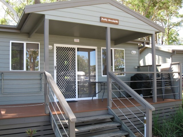 Accommodation in Nelson Bay Port Stephens in a Quarterdeck Villa at Halifax Holiday Park