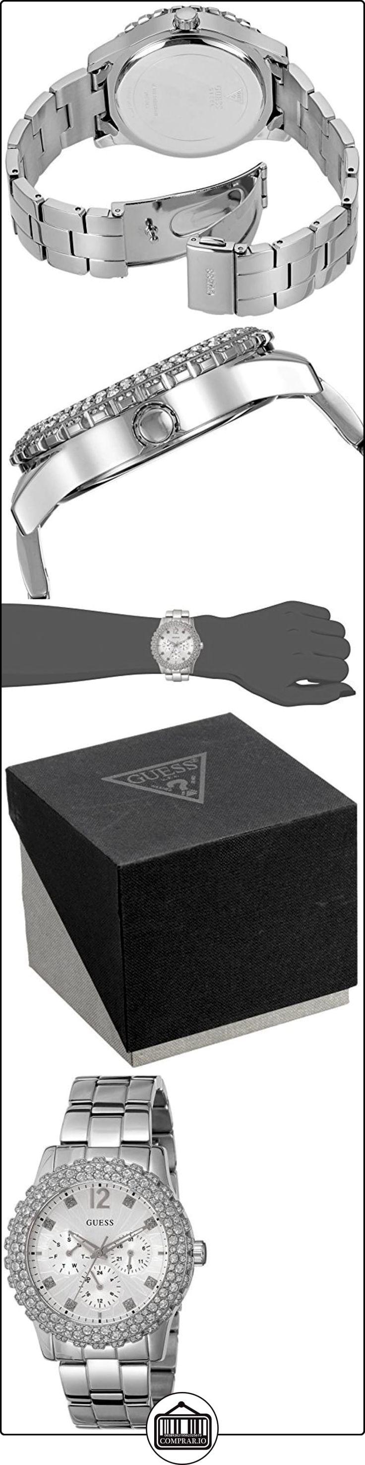 Guess W0335L1 - Reloj de pulsera mujer, acero inoxidable, color plateado  ✿ Relojes para mujer - (Gama media/alta) ✿