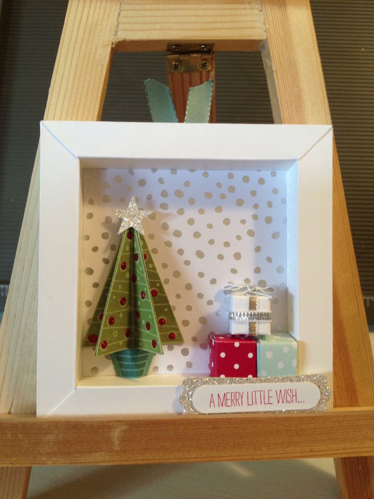 Stampin' Up! Holiday Catalogue '14 - Shadow box card - inspired by Pat Carr https://m.facebook.com/MichellesStampinUpCreativeJourney