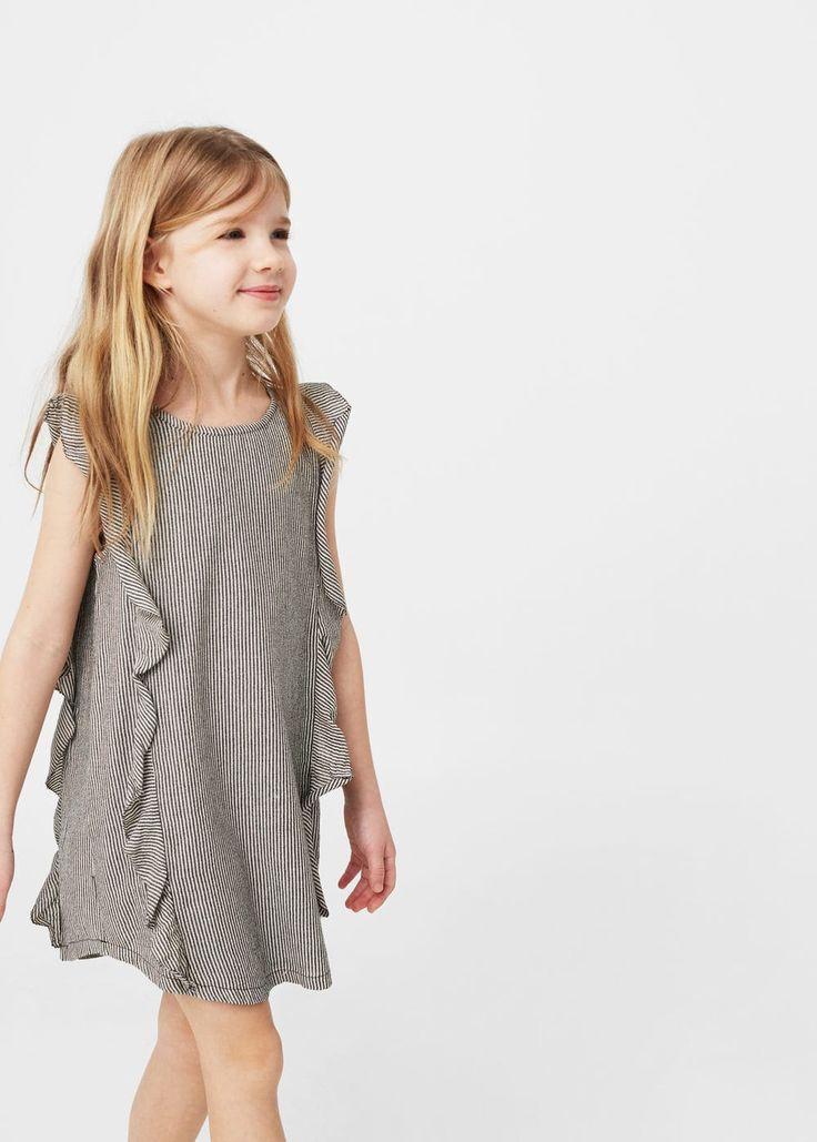 Ruffled printed dress -  Kids   MANGO Kids USA