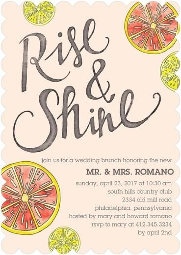 Shining Citrus - After Wedding Brunch Invitations - Sarah Hawkins Designs - Cashmere Pink - Pink : Front