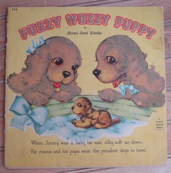Adorable Fuzzy Wuzzy Book Fuzzy Wuzzy Antique Books