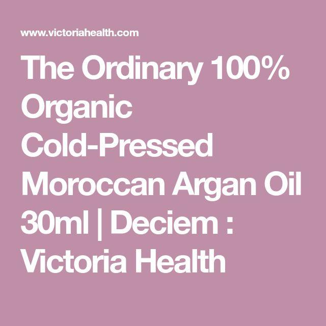 The Ordinary 100% Organic Cold-Pressed Moroccan Argan Oil 30ml | Deciem : Victoria Health