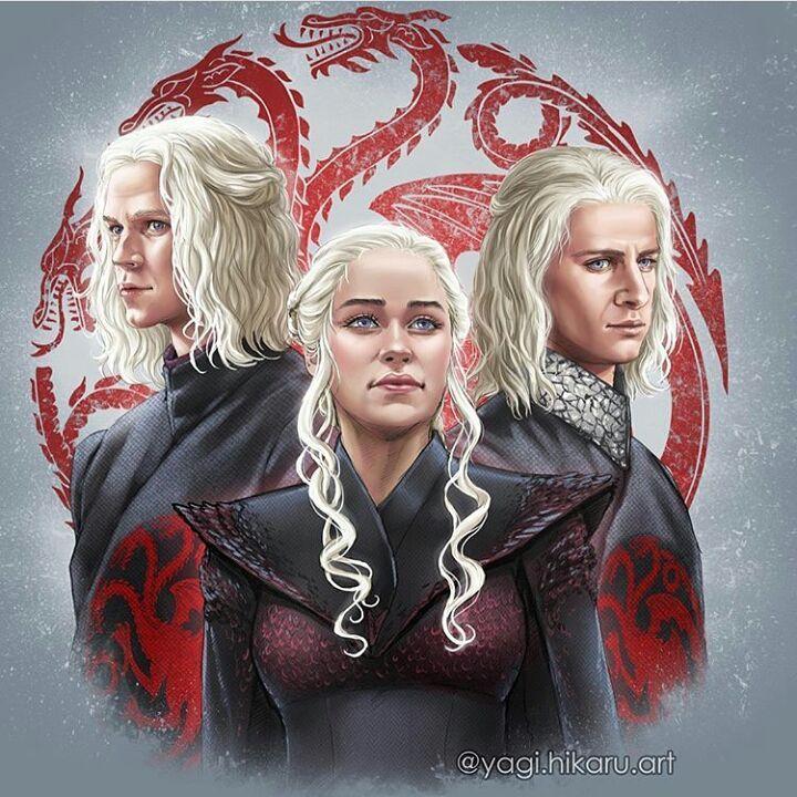 Daenerys Targaryen Viserys Targaryen And Rhaegar Targaryen By Yagi Hikaru Art Targaryen Art Game Of Thrones Art A Song Of Ice And Fire