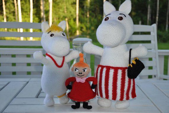 Moomin and Little My 2 PDF crochet patterns by Fjukten on Etsy, $10.20