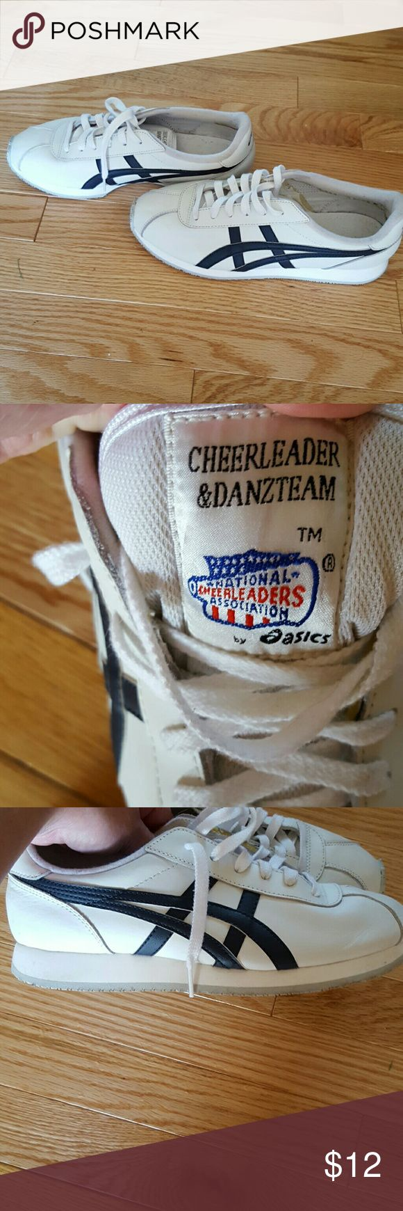 Asics blue and white shoes Cheer and dance team tennis shoes. Or for everyday use Asics Shoes Athletic Shoes