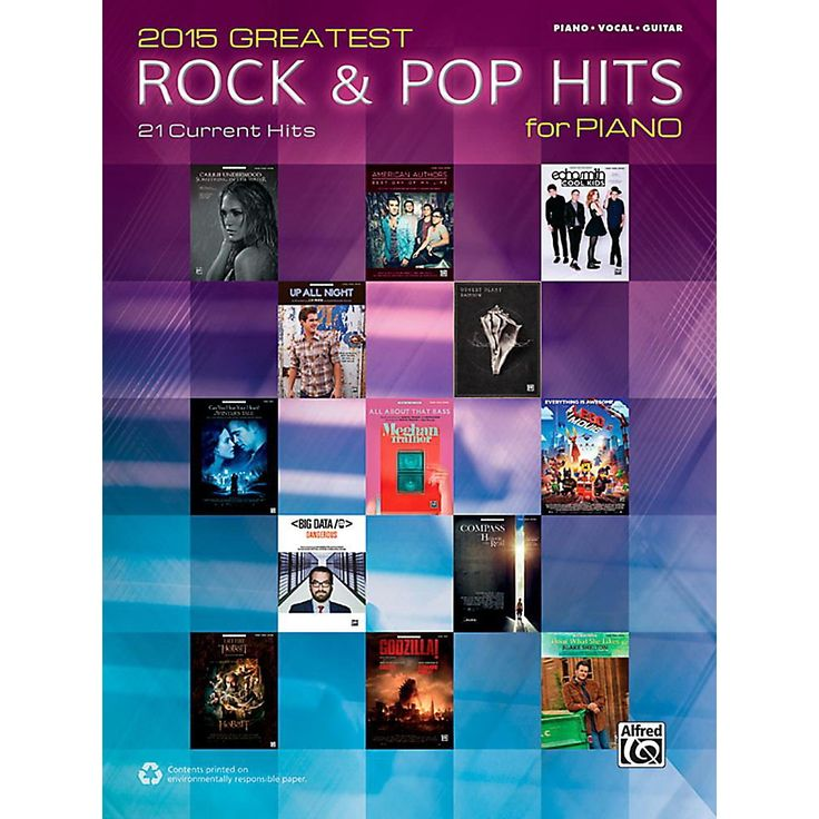 Alfred 2015 Greatest Rock & Pop Hits for Piano - Piano/Vocal/Guitar So