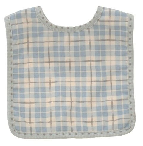 Bib - Blue Plaid - Bib in lovely blue plaid print