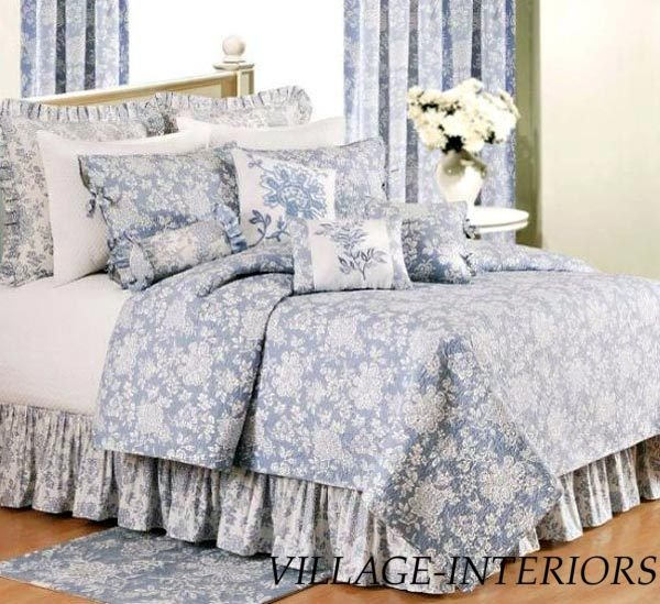 Toile bedding quilts bedspreads king bedding nora bedding bedding