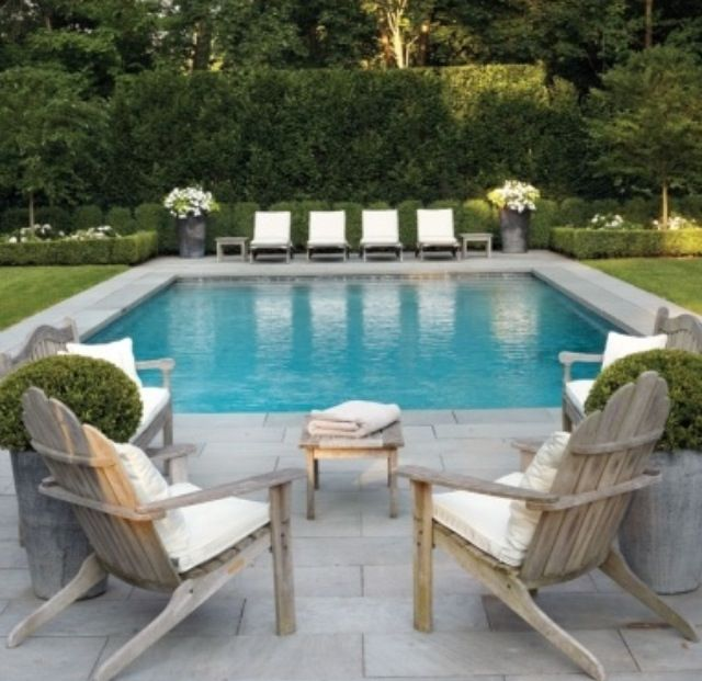 Landscaped Backyards With Pools: Rectangular Pool!