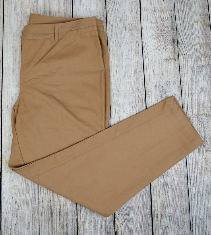 NY Collection Women Slim Leg Dress Pants Slacks Trousers Career Brown Size 18 #NYCollection #DressPants #Everyday