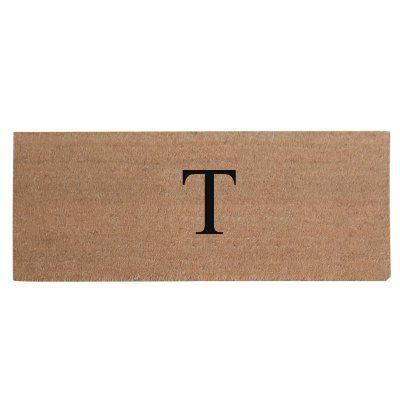First Impression Plain Coir Monogrammed Doormat - A1HOME200021-2-T