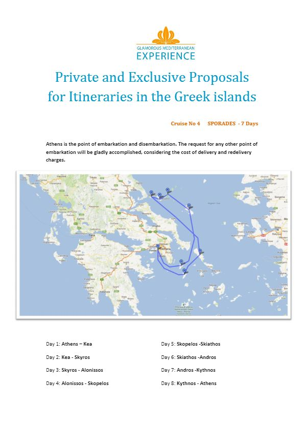 Proposed itineraries with a luxury motor yacht designed by the Glamorous Mediterranean Experience !