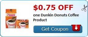 New Coupon!  $0.75 off one Dunkin Donuts Coffee Product - http://www.stacyssavings.com/new-coupon-0-75-off-one-dunkin-donuts-coffee-product/