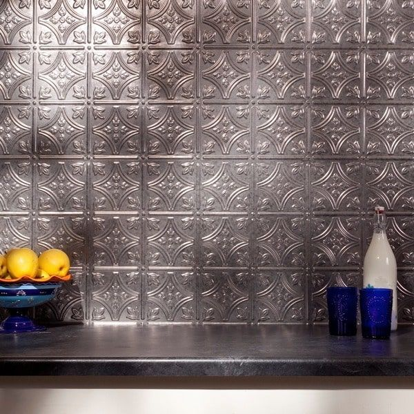 Fasade Traditional Style 10 Brushed Aluminum 18 In X 24: 25+ Best Ideas About Backsplash Panels On Pinterest