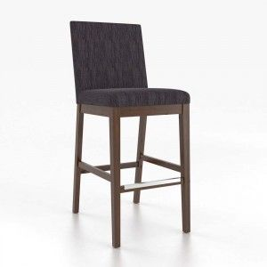 "Selected Stools for Kitchen: Finish TBD with Ivory Leather or Fabric LB - Canadel - Loft Fixed Barstool 30"" STO080023C19R30F (available in 24""h)"