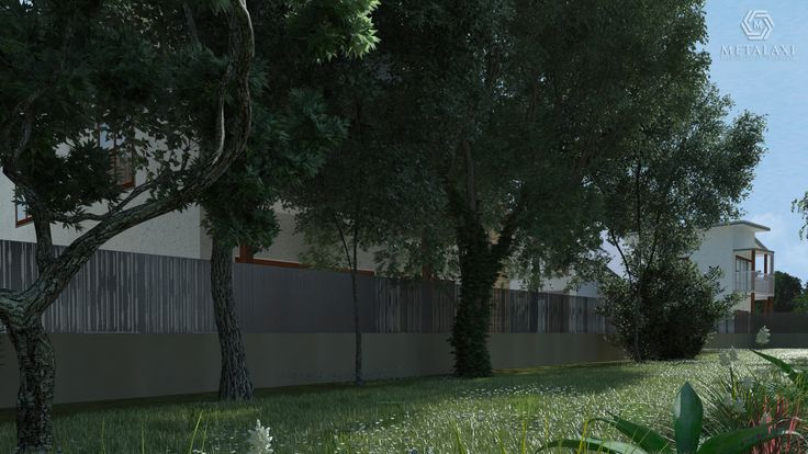 Metalaxi Fence made of perforated aluminium, perfectly fitted in a residencial or commercial environment. Life is in the details. Metalaxi Innovative Architectural Products. www.metalaxi.com