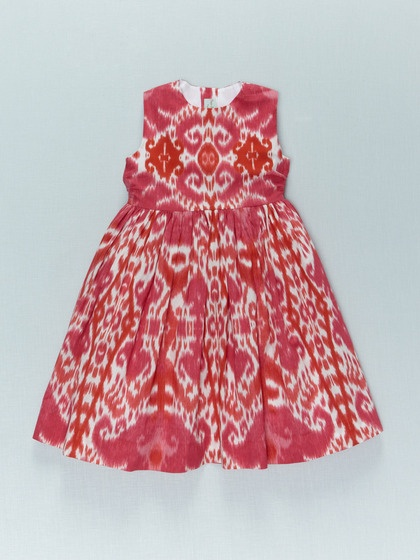 ikat party dress