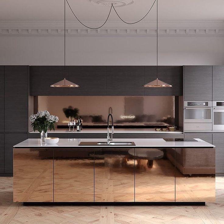 Was denkst du über diese wunderschöne Küche? – byFoto von orangegraphics flex.studio – Folgen Sie LuxclusiveHouse Für mehr Informationen. #luxclusivehouse