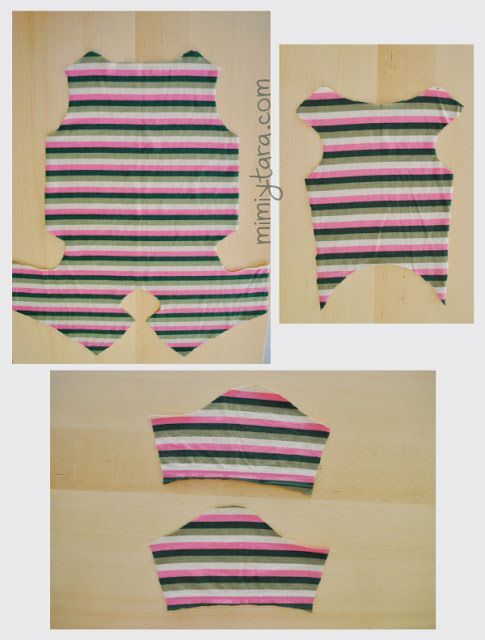 patrones cortados pijama