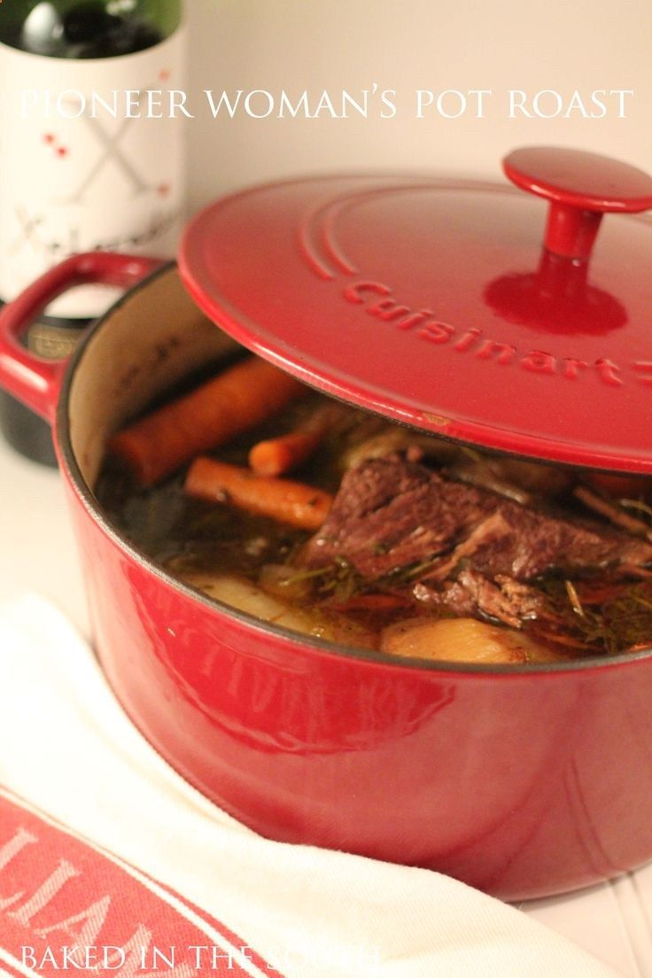 PIONEER WOMANS POT ROAST Pinner - Made this today - ITS FANTASTIC! Better than any crock pot roast Ive ever made. Added button mushrooms to the pot and served the whole thing over mashed potatoes - yum!