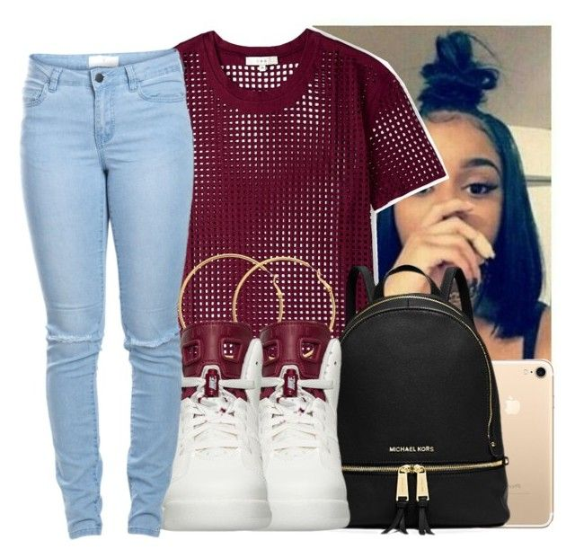 """""""#retro 6's"""" by eazybreezy305 on Polyvore featuring IRO, Michael Kors, Melissa Odabash, NIKE, Pieces, SimpleOutfits, DOPE, jordans and 2017"""