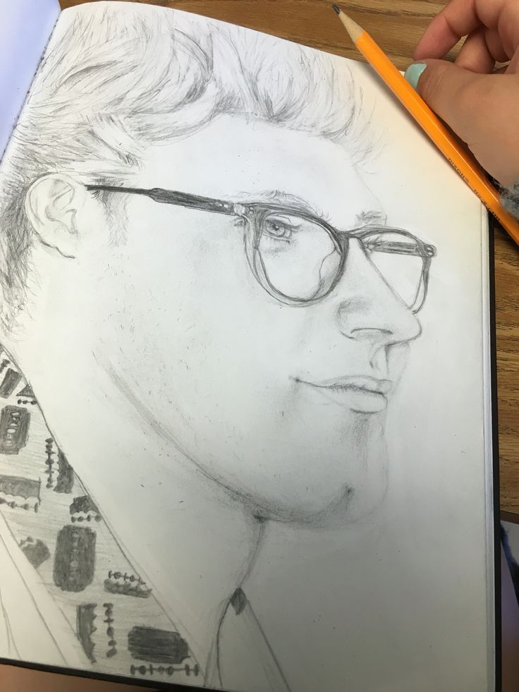 My drawing of Niall Horam