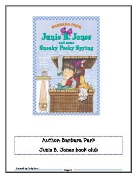 This is great to use for a book club! My first graders love reading Junie B. Jones!! They ask me daily if our book club will meet. ...
