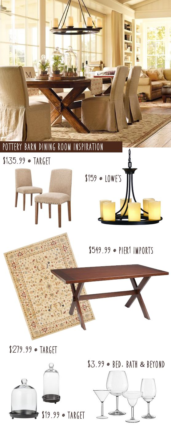 CopyCat Decorating: Pottery Barn Dining Room - More With Less Today