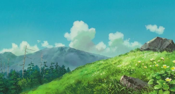The Wind Rises Anime scenery, Landscape paintings, Landscape