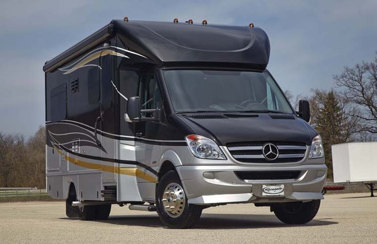 """New 2014 Renegade Villagio, first model year for this Mercedes Sprinter """"B+"""" motorhome built on a Sprinter 3500 chassis by Renegade of Bristol, Indiana."""