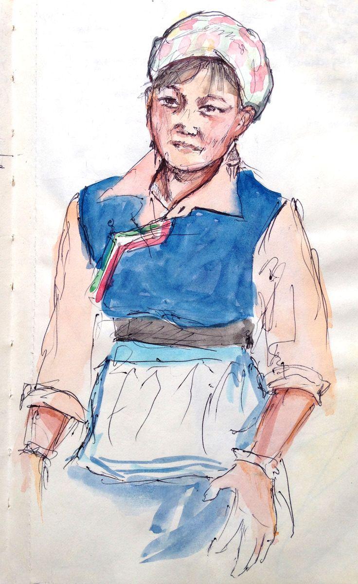 Portrait of Xiao Hua, Dali by Gary Drostle©