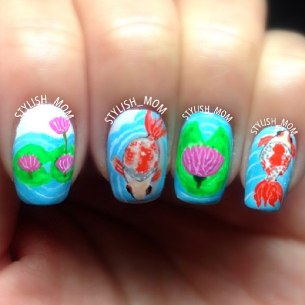 The 149 best fish nail art gallery by nded images on Pinterest ...
