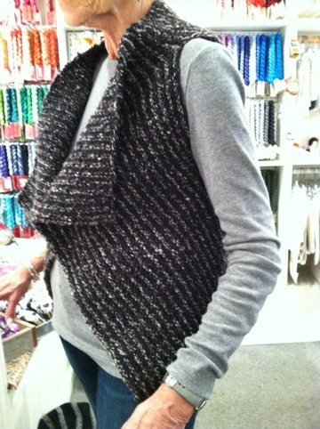 Sue's worsted version of the same pattern!