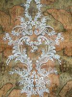 Италия свадебное платье кружева аппликации мода показать новое прибытие тюль сетка вышитые слоновой кости большой кружевными цветами кружева патчи швейные!