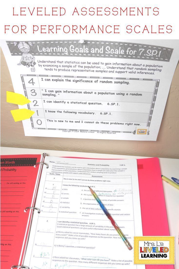 Assess student growth with FREE Editable 7th Grade Math assessments, leveled using performance scales. I use them as a pretest to plan my differentiation. It perfectly addresses the Marzano Framework and growth mindset. Student assessment made easy! | Marzano scales | differentiated instruction | math 7th grade | teaching resources middle school