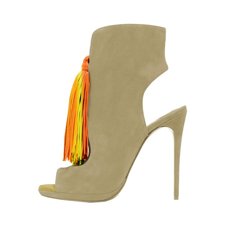 Name: Colorful Tassels Ankle Boots Price: $74.99